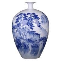 客厅装饰工艺品摆件陶瓷器手绘青花瓷水滴瓶花瓶
