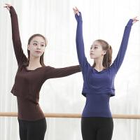 现代舞练功服上衣女成人2018新款舞蹈练功服宽松长款套手指两件套