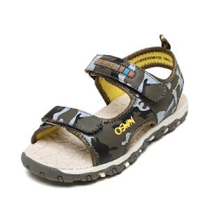 OSWIN/奥思文鞋柜男童鞋休闲凉鞋舒适迷彩中大童儿童凉鞋沙滩鞋