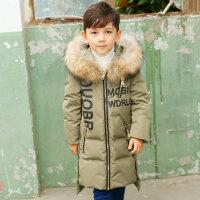 冬季儿童羽绒服男童中长款2018新款男孩童装外套加厚大毛领秋冬新款