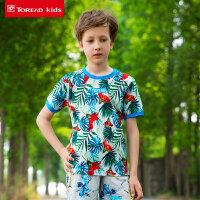 【跨店每满200减100】探路者童装 夏季男童儿童 风格系列满印圆领短袖T恤