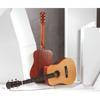 吉他儿童旅行单板电箱吉他桃花芯木初学入门34寸36寸吉他民谣单板