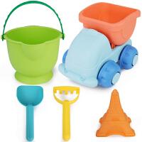 软胶儿童沙滩玩具车大号铲子桶套装宝宝男女孩戏水洗澡玩挖沙工具
