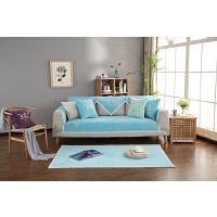 刺绣沙发垫巾布艺夏季防滑凉垫机洗欧式纯色套罩巾四季通用