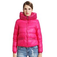 雅鹿羽绒服女短款 韩版纯色修身时尚冬装女外套清仓N20120