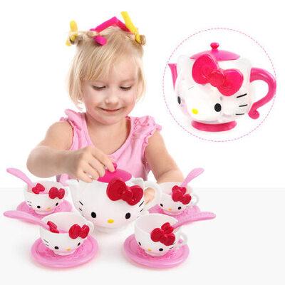 星月  hello Kitty可爱茶壶茶具13件套装 女孩过家家玩具 儿童礼物益智玩具限时钜惠