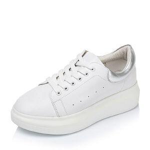 Tata/他她牛皮女休闲鞋2CL79CM6小白鞋运动鞋女小白鞋女