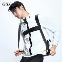 GXG夹克外套男装 秋季男士时尚休闲都市运动夹克男青年外套薄款潮