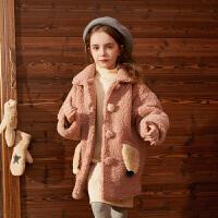 【开学季3件2折:124】巴拉巴拉旗下巴帝巴帝女2019秋冬新款时尚甜趣外套