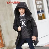 鸭鸭(YAYA)2018秋冬童装男童中长款羽绒服儿童鸭绒外套 Y-B473104
