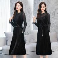 秋装女套装裙新款女装长袖打底吊带收腰气质连衣裙两件套裙子