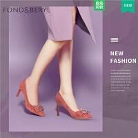 Fondberyl/菲伯丽尔春秋款浅口尖头高跟单鞋女鞋FB81111060