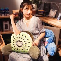 学生腰枕毛绒公仔水果抱枕两用办公室椅子腰靠护腰女靠垫