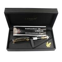 英雄钢笔 英雄礼赞909系列 罗马王黑漆金格 钢笔/美工笔