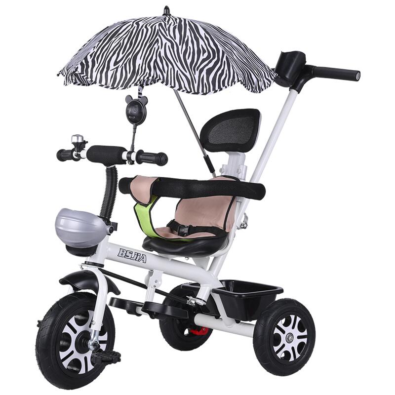 儿童三轮车脚踏车1-3周岁小孩手推车男女婴儿宝宝自行车幼儿童车
