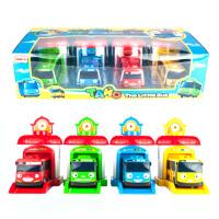 20180528080517192韩国泰路TAYO巴士 动漫可爱回力小汽车太友小公交车儿童卡通玩具 豪华套装带屋子 动