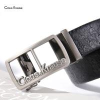【1件3折,到手价:65.7元】ClousKrause 英伦CK新款男士腰带简约时尚商务牛皮自动扣皮带