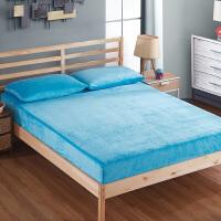 绚典家纺 床笠法莱绒单件席梦思床垫保护套法兰绒加厚珊瑚绒保暖床罩