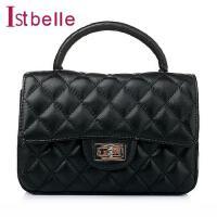Ist belle/百丽箱包春季车缝线绵羊皮简约时尚女手袋Y8626AX6
