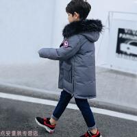 冬季儿童羽绒服男童中长款中大童装加厚外套2018新款秋冬新款