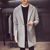 秋冬季呢子风衣男士毛呢大衣外套男中长款冬天英伦风帅气潮流韩版