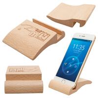 懒人榉木实木手机底座支架多功能创意桌面儿童实用玩具
