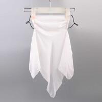 护颈丝巾夏防紫外线面纱透气薄款女可拆开口罩防晒面罩