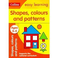 【中商原版】柯林斯易学儿童学前阶段 3-5岁 英文原版 形状,颜色和图案 Shapes, Colours and Pa