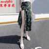 茉蒂菲莉 半身裙 女士雪纺碎花一片式时尚百搭休闲裙女式长款印花夏季新款韩版学生小清新长裙子