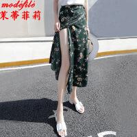 茉蒂菲莉 半身裙 女士纯色皮裙秋冬新款欧美女装学生时尚潮职业装女式一步包臀裙子