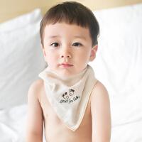 三利 纯棉高密度纱布婴幼儿三角巾 A类安全标准 宝宝口水巾 包头巾 20×43cm