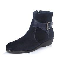 Bata/拔佳冬专柜同款牛皮女短靴60801DD5