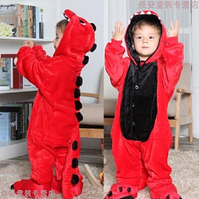 动物卡通连体睡衣珊瑚绒法兰绒小恐龙衣服儿童男孩女童宝宝可爱冬 红色 红恐龙 发货周期:一般在付款后2-90天左右发货,具体发货时间请以与客服协商的时间为准