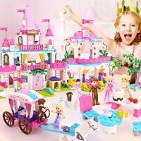 女孩legao积木拼装房子9别墅10公主城堡812儿童玩具3-6周岁