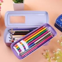 迪士尼小公主苏菲亚文具盒女多功能大容量冰雪奇缘铅笔盒铁盒