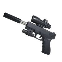 男孩手动上膛单发*软弹枪玩具安全玩具水晶弹儿童节礼物 版