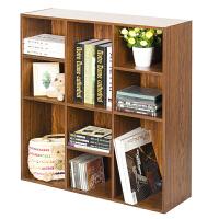 [当当自营]慧乐家 书柜书架 鲁比克九格书柜 储物柜置物架 深红樱桃木色 11050