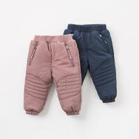 【夹棉】davebella戴维贝拉冬季新款儿童棉裤宝宝加厚裤子DB9633