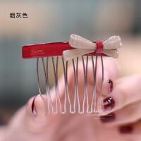发梳发插 蝴蝶结插梳头插刘海夹卡子 发饰头饰发卡发夹
