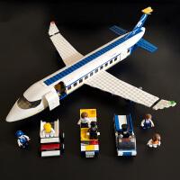 男孩子女9益智拼装兼容乐高积木玩具飞机系列5-12岁客机模型拼图8