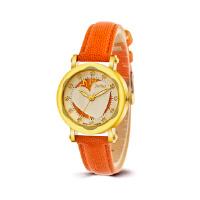 聚利时(Julius)韩版石英表镶钻心型优雅简约精美刻度真皮表带时尚女士手表