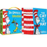 英文原版绘本 Dr Seuss's 苏斯博士 10本礼盒装 Green Eggs and Ham 绿色的鸡蛋和火腿 廖
