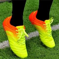 新款男士足球鞋微细纤维儿童青少年人草男女碎钉足球鞋