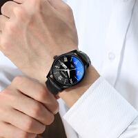 时尚潮流手表男士学生韩版皮带男表石英表休闲薄腕表