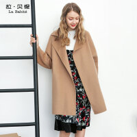 双面呢大衣加厚零羊绒2017新款秋冬季韩版中长款羊毛呢子外套女装