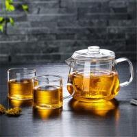 家用过滤水壶煮器全玻璃茶壶冲泡红花茶具套装
