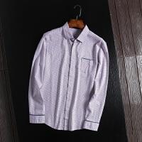 国内单柜子剪标出品男士春装休闲衬衣男长袖青年寸衫百搭靓仔衬衣