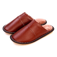 棉拖鞋秋冬季居家室内男女情侣木地板防滑保暖拖鞋