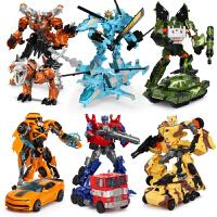 男孩儿童套装变形玩具大黄蜂汽车机器人模型