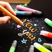 韩国神奇泡泡果冻笔6色入 泡沫染发笔创意立体DIY笔